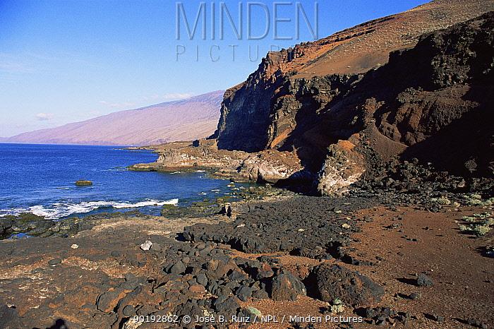 Punto la Nao volcanic coast, El Hierro, Canary Islands  -  Jose B. Ruiz/ npl