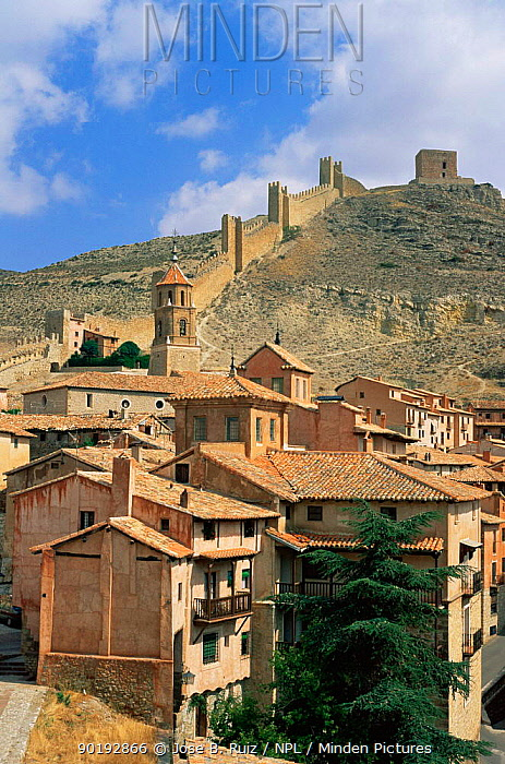 Albarracin fortified village, Albarracin mountains, Teruel, Spain  -  Jose B. Ruiz/ npl