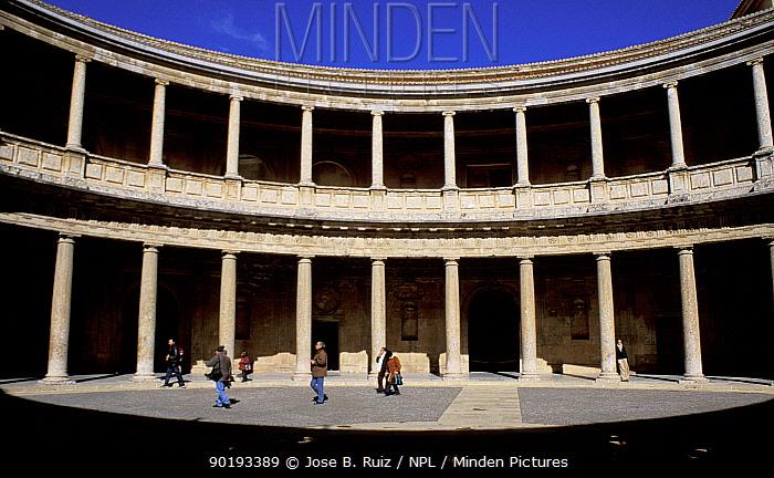 Colonades, Palacio Carlos V, Alhambra, Granada, Andalucia, Spain  -  Jose B. Ruiz/ npl