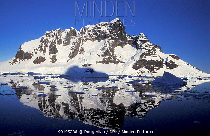 Reflections in Lemaire channel, Antarctica  -  Doug Allan/ npl