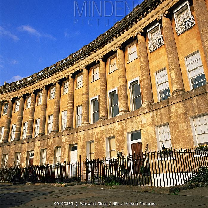 Royal Crescent, Bath, Somerset, UK  -  Warwick Sloss/ npl