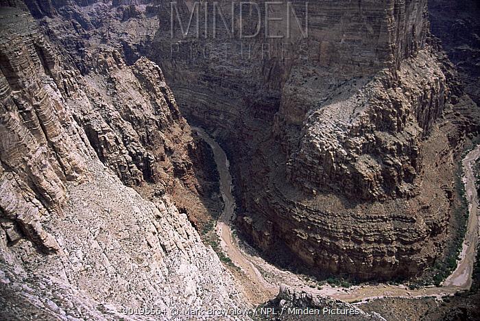 Aerial view of Grand Canyon NP, Arizona, USA  -  Mark Brownlow/ npl