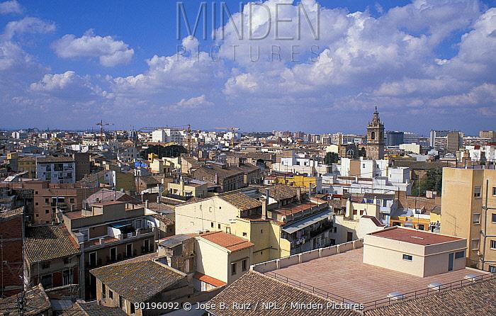 View over rooftops of Valencia, Spain  -  Jose B. Ruiz/ npl