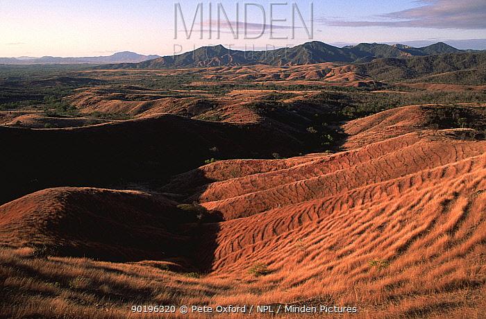 Deforested landscape near gold mine, Daraina, Madgascar  -  Pete Oxford/ npl
