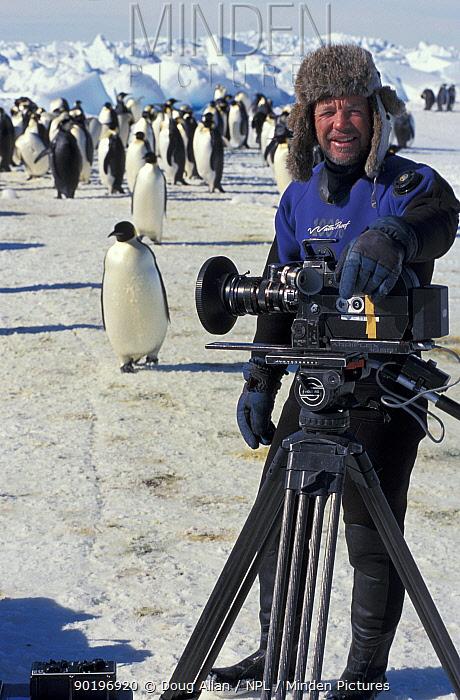 Doug Allan filming in Antarctica for BBC NHU Blue Planet  -  Doug Allan/ npl