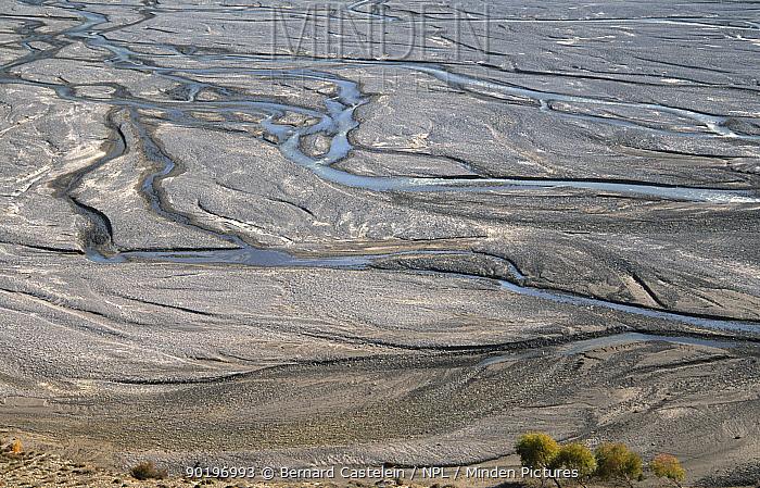 Patterns in Kali Gandanki river, Eklebathi, Lower Mustang, Nepal November 2004  -  Bernard Castelein/ npl
