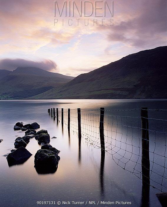 Wastwater Lake, the deepest lake in England, Lake District NP Cumbria, UK 2003  -  Nick Turner/ npl