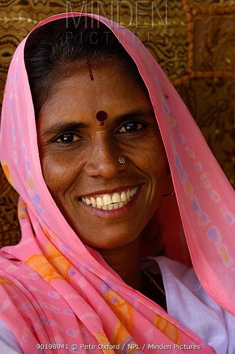 Village woman Near Ranthambhore, Rajasthan, India, October 2006  -  Pete Oxford/ npl