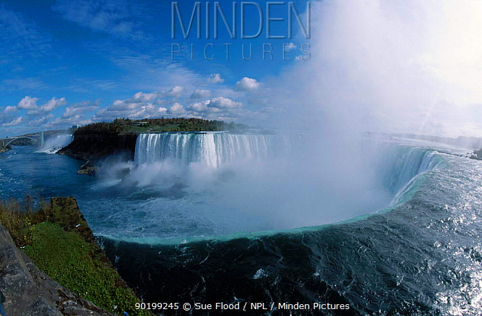 Niagara falls Ontario Canada Fish-eye image  -  Sue Flood/ npl