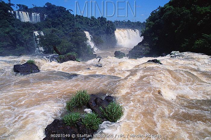 Iguazu falls Brazil, Argentina border, South America Iguassu  -  Staffan Widstrand/ npl