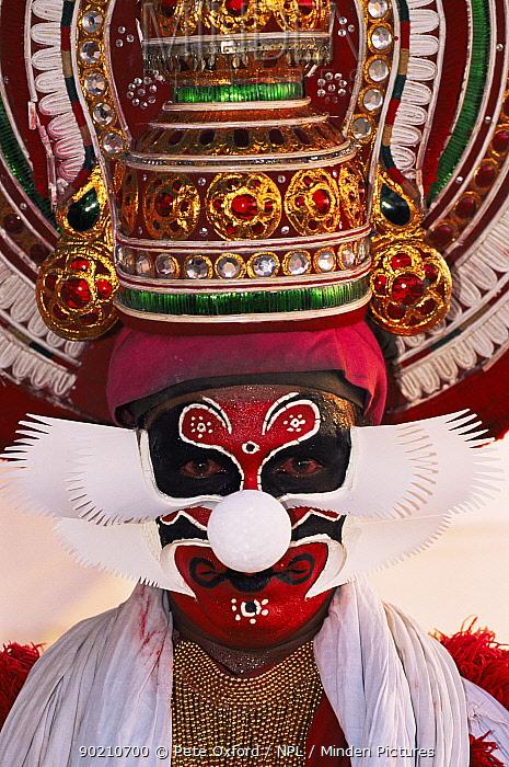 Kerala dancer, Vilinjan, Kerala, India  -  Pete Oxford/ npl