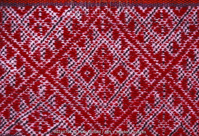Andean woven poncho Peru  -  Pete Oxford/ npl