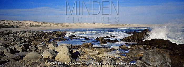Rocky shoreline landscape, Skeleton coast, Namibia  -  Pete Oxford/ npl
