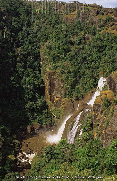 Waterfall at Varirata NP, Papua New Guinea  -  Michael Pitts/ npl