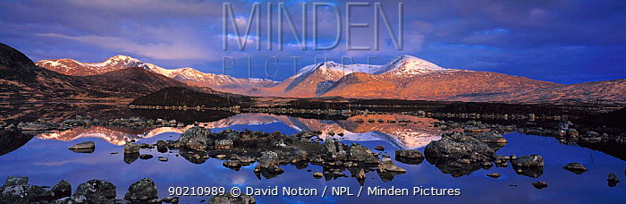 Panoramic view of the Black Mount, Rannoch moor, Scotland, UK  -  David Noton/ npl