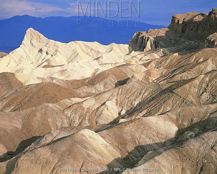 Zabriskie Point after sunrise, Death Valley badlands landscape, California, USA  -  David Kjaer/ npl