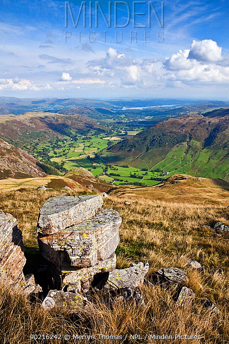 Great Langdale valley, viewed from Harrison Stickle, Lake District National Park, Cumbria, England September 2010  -  Merryn Thomas/ npl