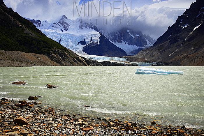 Laguna Torre and Grande glacier below Cerro Torre (3102 m), Los Glaciares National Park, Andes, Patagonia, Argentina, January 2006  -  Oriol Alamany/ npl