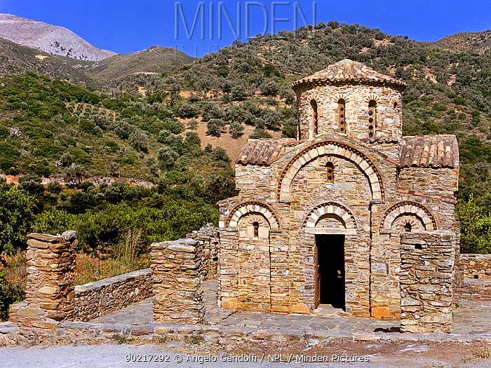 Panagia church near Fodele (1383 AD) Crete island, Greece  -  Angelo Gandolfi/ npl