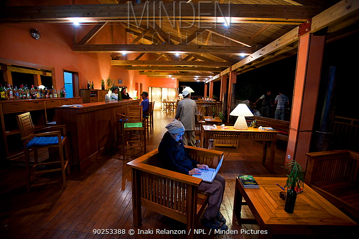 Interior shot of Saha Forest Camp, managed by ONG Fanamby Central Madagascar, Africa  -  Inaki Relanzon/ npl