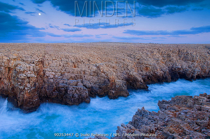 The coast of Punta Nati, Menorca Island, Balearic Islands, Spain, Europe, March 2008  -  Inaki Relanzon/ npl