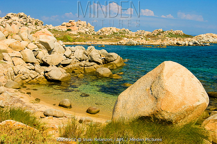 Parc Marin International des Lavezzi, Bouches de Bonifacio Corsica Island, France, Mediterranean Sea, August 2005  -  Inaki Relanzon/ npl