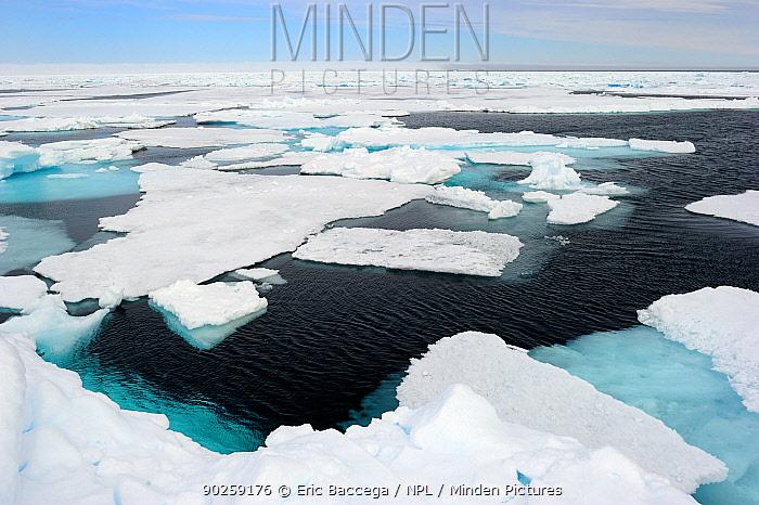 Melting ice at Floe Edge, Arctic Bay, Baffin Island, Nunavut, Canada, April 2009  -  Eric Baccega/ npl
