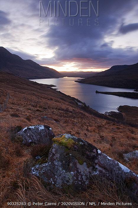 Dawn over Loch Lurgainn, Inverpolly, Sutherland, Highlands, Scotland, UK, January 2011  -  Peter Cairns/ 2020V/ npl