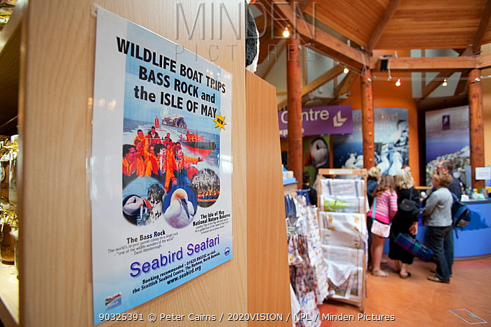 Scene inside the Scottish Seabird Centre in North Berwick showing economic benefits of presence of Bass Rock, Firth of Forth, Scotland, UK, July 2010  -  Peter Cairns/ 2020V/ npl