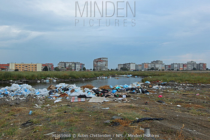 Pollution and refuse by water in Pomorie Bulgaria, September, 2010  -  Robin Chittenden/ npl