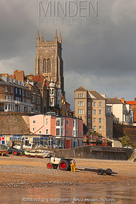 Cromer beach and town, Norfolk, UK, May 2009  -  Ernie Janes/ npl