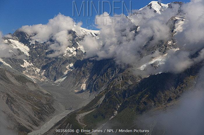 Franz Josef Glacier, Southern Alps, South Island, New Zealand  -  Ernie Janes/ npl