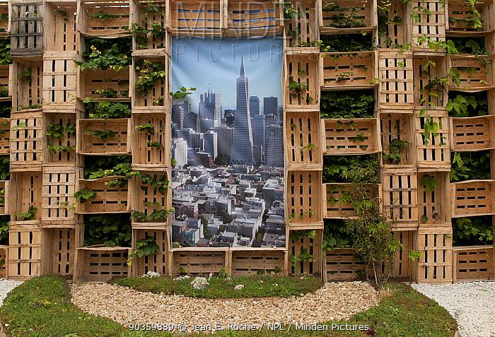 Exhibit titled 'The False Roof Garden' at the International Garden Festival 2011, theme Biodiversity, Chateau Chaumont-sur-Loire, France, June 2011  -  Jean E. Roche/ npl