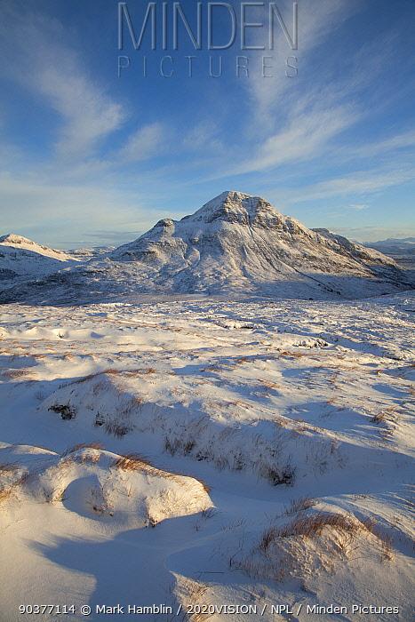 Cul Beag in winter, Coigach, Wester Ross, Scotland, UK, December 2010  -  Mark Hamblin/ 2020V/ npl