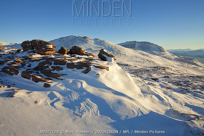Ben More Coigach in winter, Coigach, Wester Ross, Scotland, UK, December 2010  -  Mark Hamblin/ 2020V/ npl