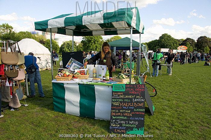 London Farmers Market Stall at London Green Fair (previously Camden Green Fair) Regent's Park, England UK, July 2012  -  Pat Tuson/ npl