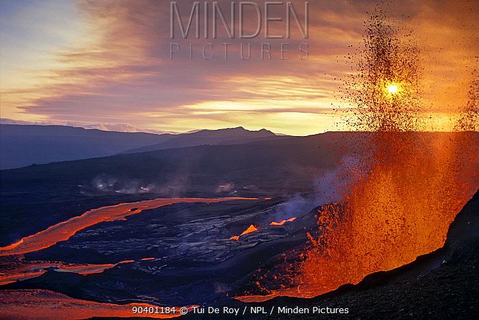 Fissure eruption of Volcan Chico into 9km diameter caldera  -  Tui De Roy/ npl