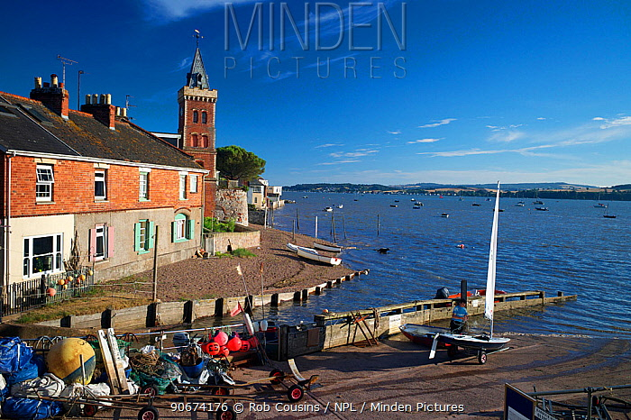View of Exe Estuary, from Lympstone harbour, Devon, UK, July 2013  -  Rob Cousins/ npl