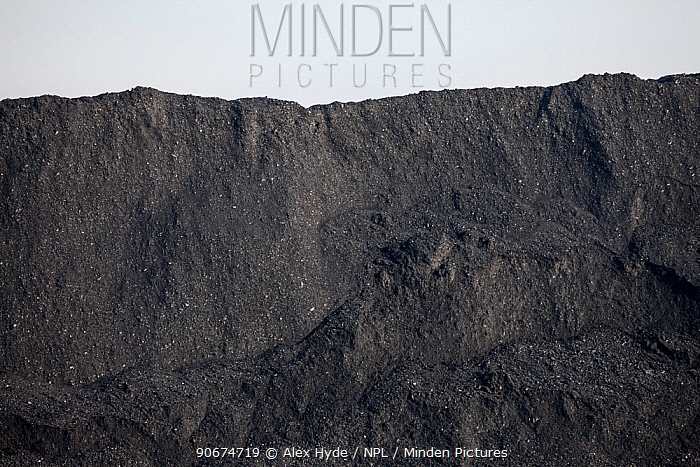 Coal heap, Yorkshire, UK, January 2014  -  Alex Hyde/ npl