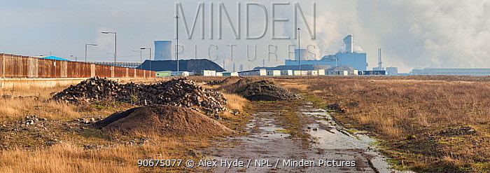 Brownfield site, Kingston upon Hull, East Yorkshire, England, UK January 2014 Digitally stitched panorama  -  Alex Hyde/ npl