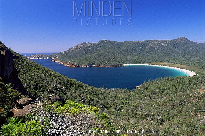 Wineglass Bay, view from Hazards range, Freycinet National Park, Tasmania,  -  Steven David Miller/ npl