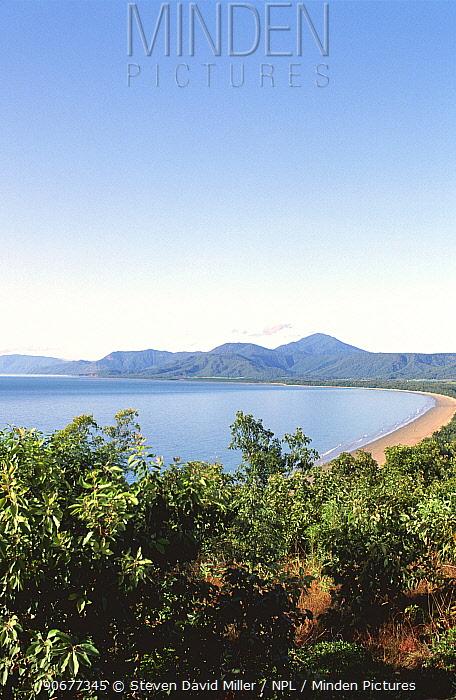 Four Mile Beach from lookout, Port Douglas, far north Queensland, Australia  -  Steven David Miller/ npl