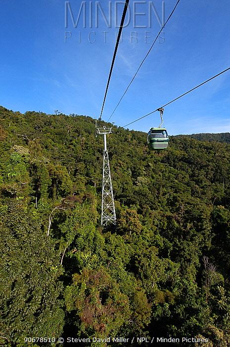 Skyrail from Kuranda to Cairns, passing over rainforest habitat, Barren Gorge National Park, Queensland, Australia  -  Steven David Miller/ npl