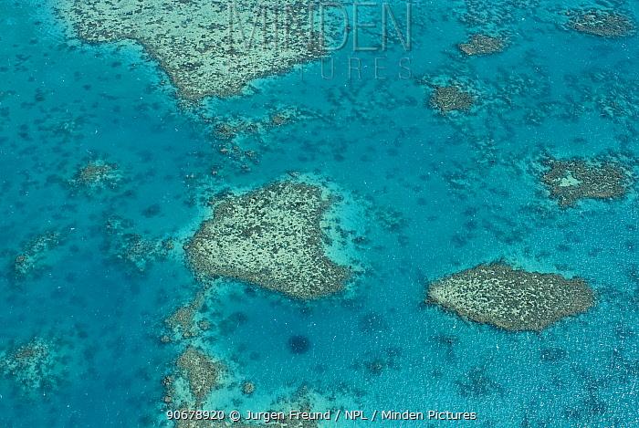 Aerial view of the Great Barrier Reef, Queensland, Australia  -  Jurgen Freund/ npl