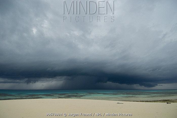 Storm over the ocean, Tubbataha Reef, Palawan, Philippines  -  Jurgen Freund/ npl