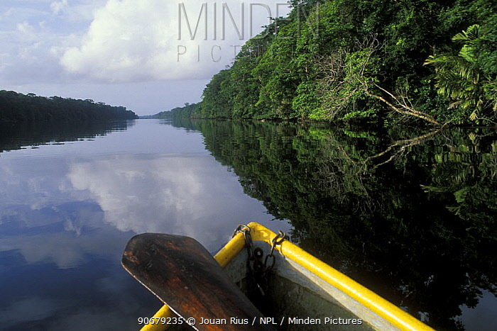 View of river from boat, Tortuguero NP, Costa Rica  -  Jouan & Rius/ npl