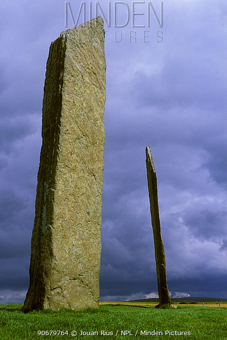 Stenness standing stones, The Orkney Isles, Scotland, UK  -  Jouan & Rius/ npl
