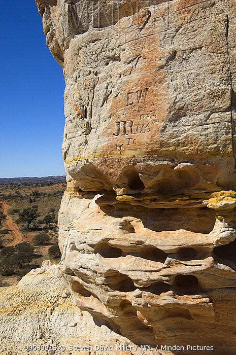 Chambers Pillar Historical Reserve, Simpson Desert, Northern Territory, Australia 2007  -  Steven David Miller/ npl