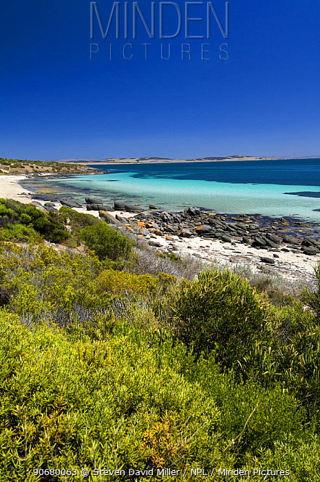Port Lincoln viewed from Fishermans Point and the north coastline of Lincoln National Park, South Australia 2007  -  Steven David Miller/ npl