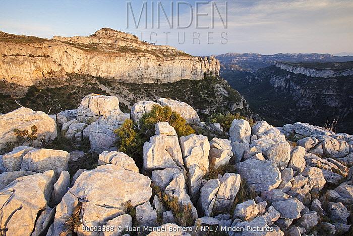 Mountains in Serra de Llaberia, Tarragona Province, Spain, April  -  Juan Manuel Borrero/ npl
